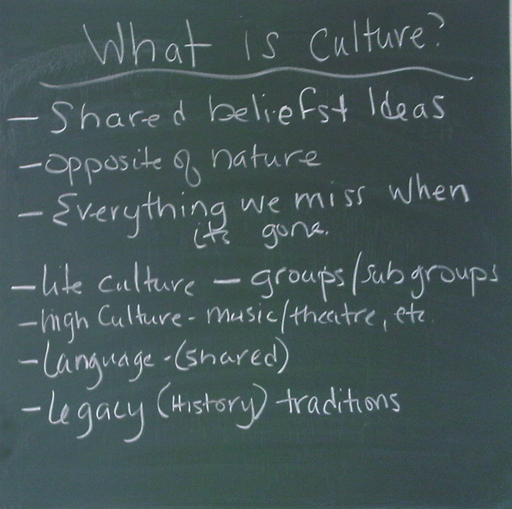 an overview of the definition of culture Essays and criticism on t s eliot's notes towards the definition of culture - analysis.