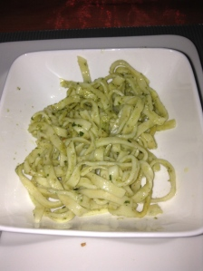 Homemade Basil Pesto with fresh pasta