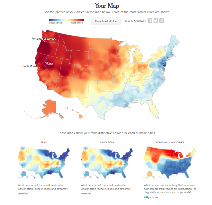 What Is The Map Of The United States.A Dialect Map Of The United States And What It Might Say About You