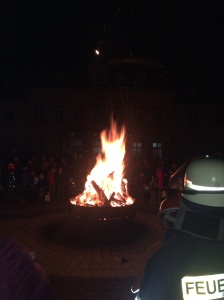 An impressive bonfire at our local parade.